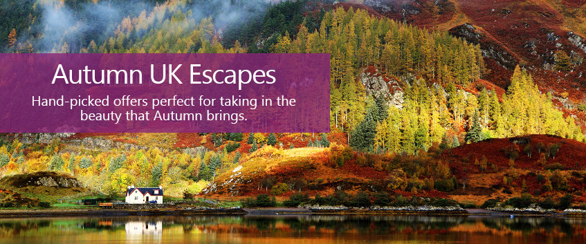 Autumn UK Escapes. Hand-picked offers perfect for taking in the beauty that Autumn brings.