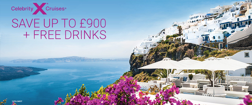 Celebrity Cruises Save up to £900 plus free drinks. terms apply
