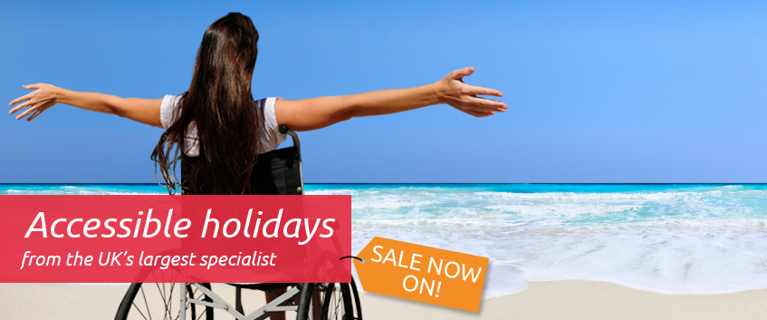 Accessible Holidays from the UKs largest specialist, sale now on