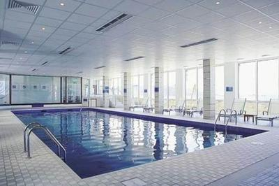 Swimming pool at accessible luxury spa hotel, Jersey, Channel Islands