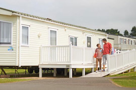 Prestige adapted caravans in The Orchards Holiday Park