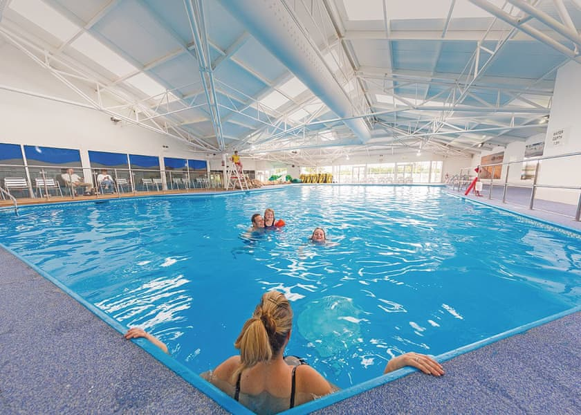 Accessible swimming pool at caravan park in Gwynedd, Wales