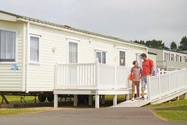Prestige adapted caravans in Presthaven Sands Holiday Park