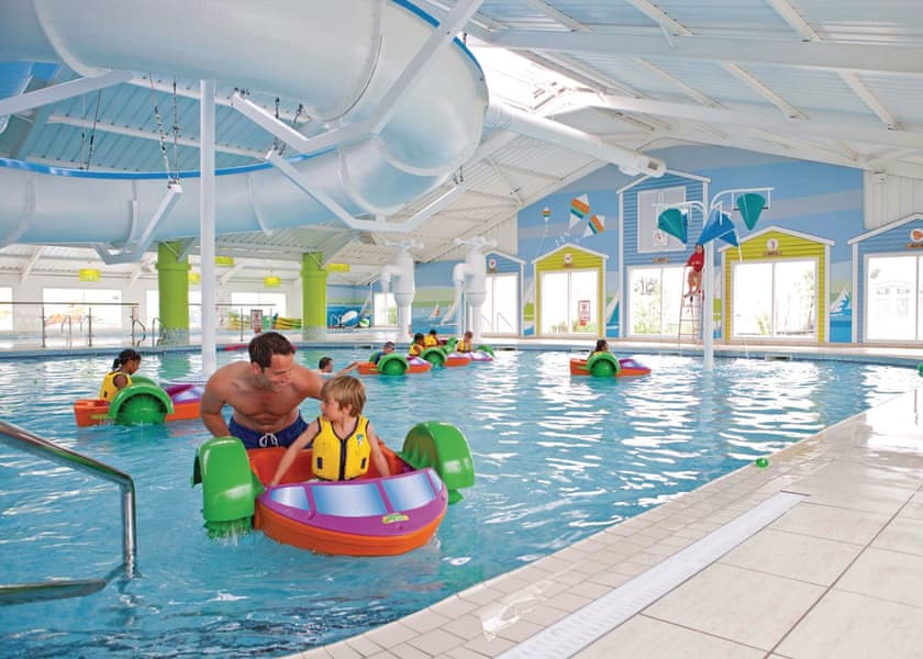 Indoor swimming pool at accessible holiday park in Wales