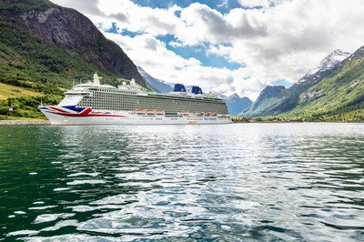 P&O cruise ship in the Norwegian fjords