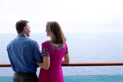 Couple on an ocean cruise