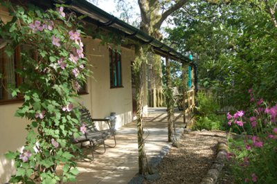 Accessible holiday lodge with electric profiling bed in Carmarthenshire, Wales
