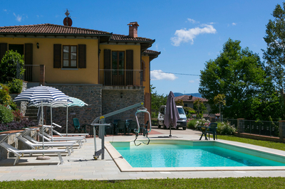 Accessible villa in Lucca, Italy