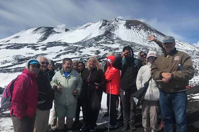 Blind and partially sighted holiday tour at Mount Etna, Sicily