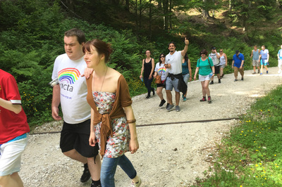 Blind and partially sighted holiday tour in Slovenia