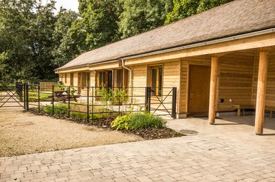 Adapted holiday lodge with profiling bed and track hoists in Bakewell, Derbyshire