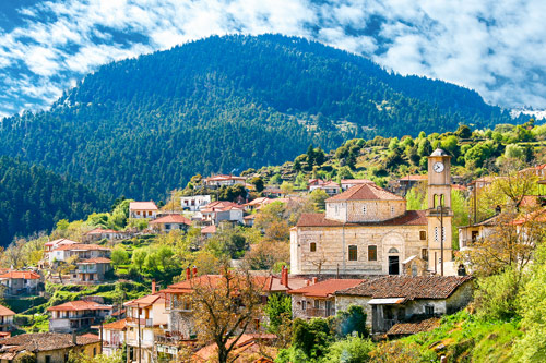 Mountain village in the Peloponnese
