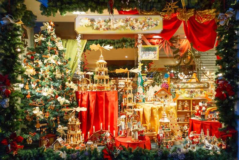 Christmas market stall in Belgium