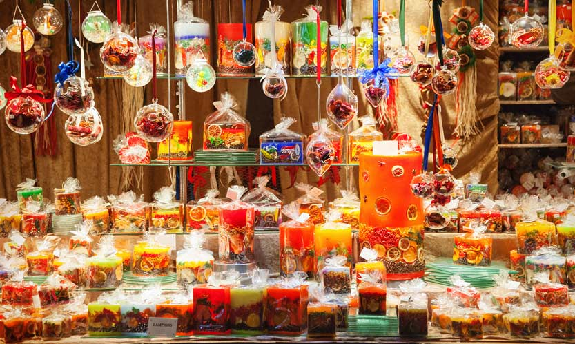 French Christmas market stall