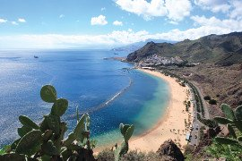 Sunny beach in the Canary Islands