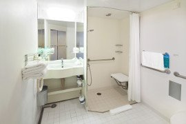 Celebrity Cruises accessible cabin bathroom