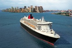 Cunard cruise ship in New York