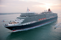 Cunard cruise ship in the Baltic