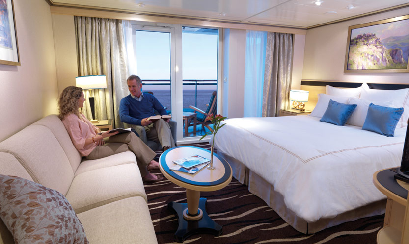 Cunard cruise ship cabin