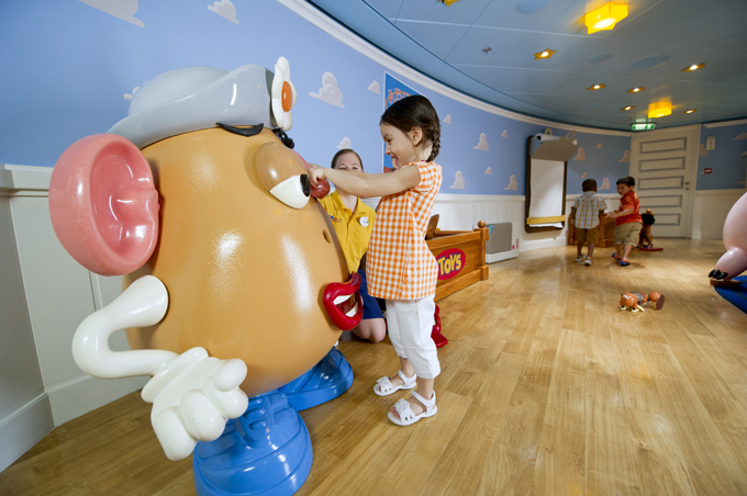 Toy Story children's play area on a Disney Cruise Line ship
