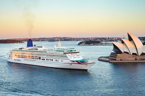 P&O Aurora cruise ship in Sydney harbour