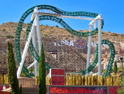 Roller coaster at Terra Mitica, Benidorm, Spain