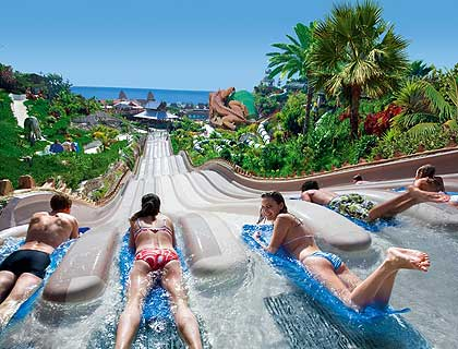 Water slide at Siam Park, Tenerife