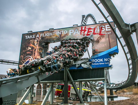 Roller coaster at Thorpe Park