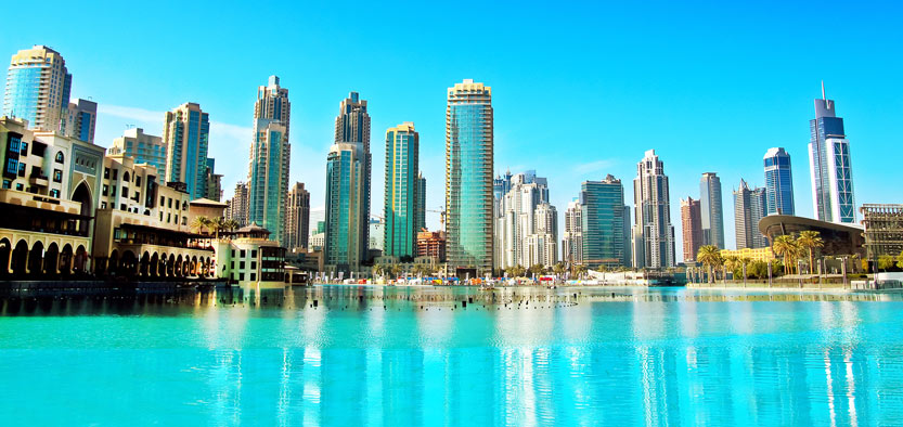 Dubai skyscrapers and seafront