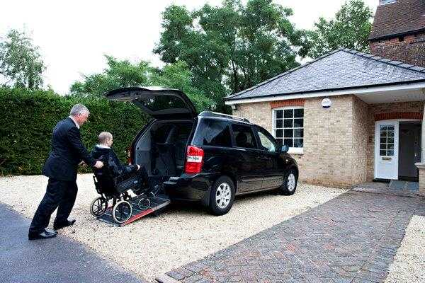 Wheelchair-adapted car