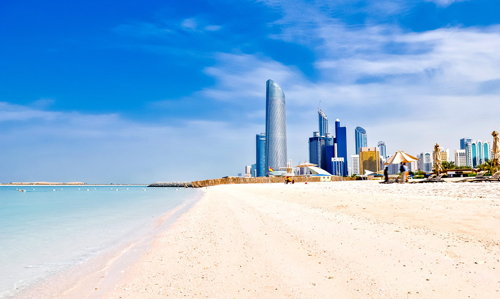 Abu Dhabi beach, United Arab Emirates