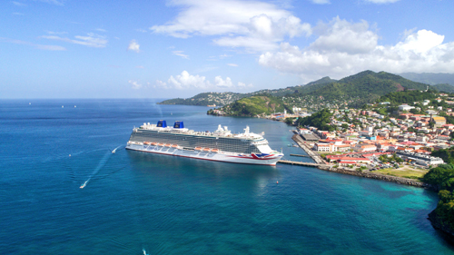 P&O cruise ship Britainnia in the Caribbean