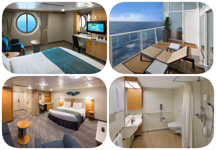 Allure of the Seas Accessible Staterooms and Bathroom