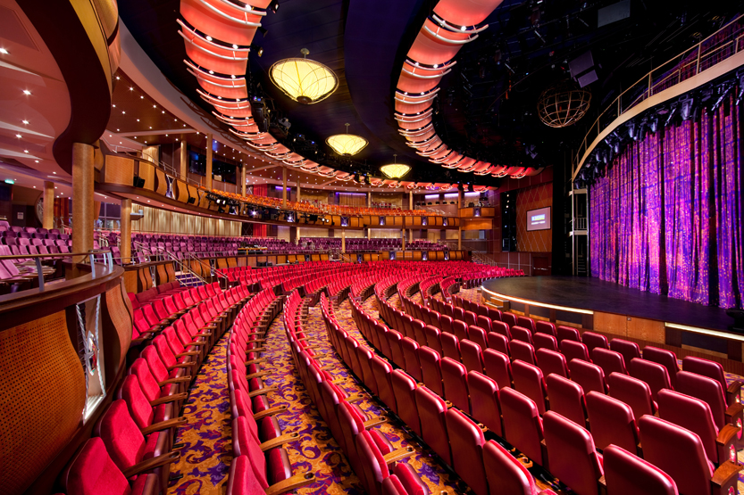 Allure of the Seas cruise ship Amber Theatre