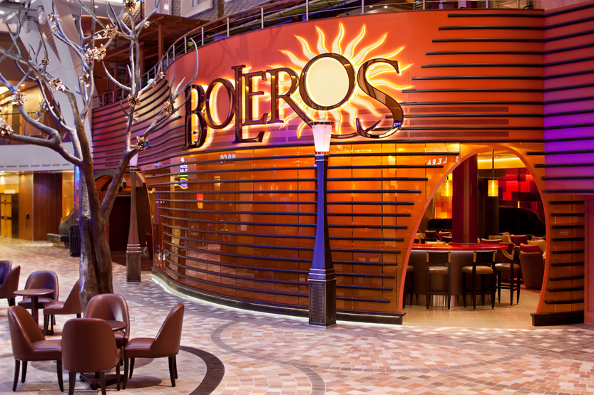 Allure of the Seas cruise ship Boleros bar