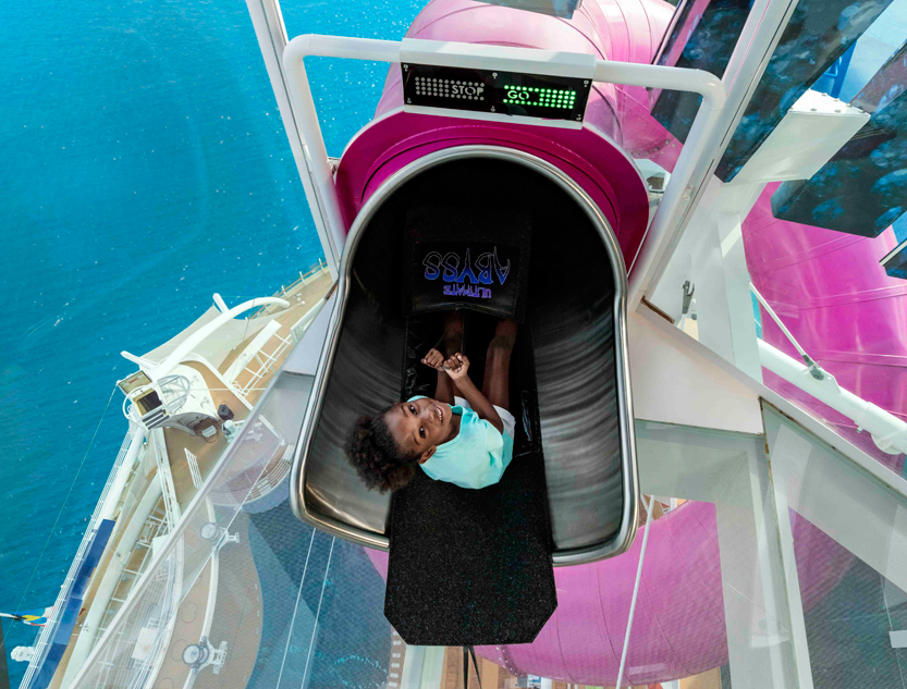Allure of the Seas cruise ship Ultimate Abyss slide