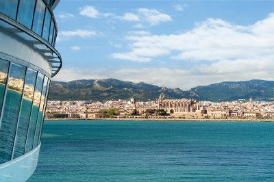 Royal Caribbean cruise ship near Palma de Mallorca