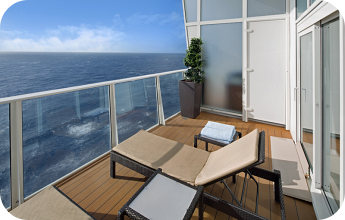 Royal Caribbean accessible cruise ship cabin balcony for disabled guests
