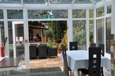 Supported dementia-friendly accommodation, conservatory