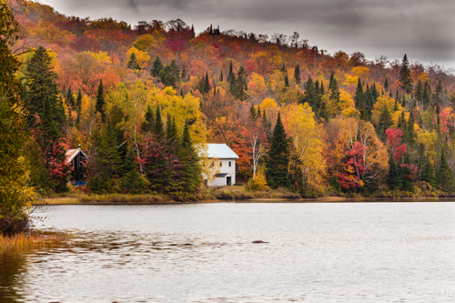 Quebec autumn landscape