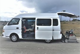 Accessible taxi van for disabled wheelchair users in Barbados
