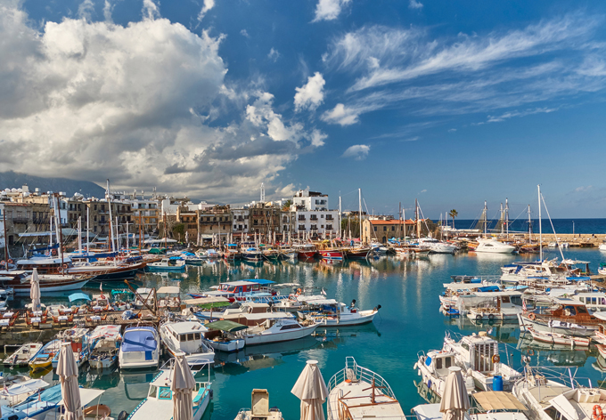 Boats in Kyrenia harbour, Cyprus