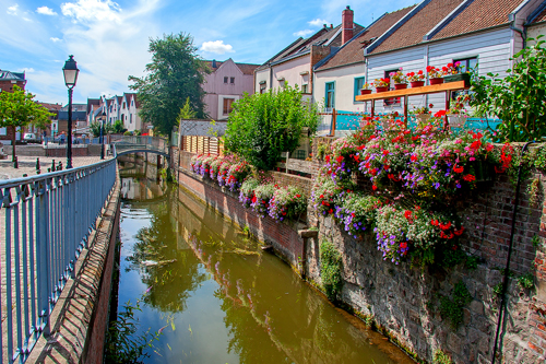 Canal in Amiens, Somme