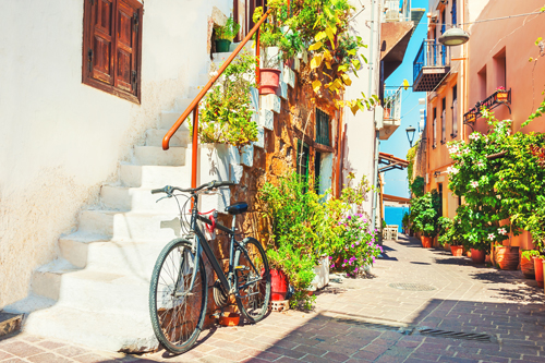 Traditional street in Chania, Crete