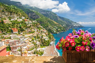 Amalfi coast, near Naples, Italy