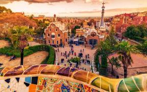 Sunset at Park Guell, Barcelona