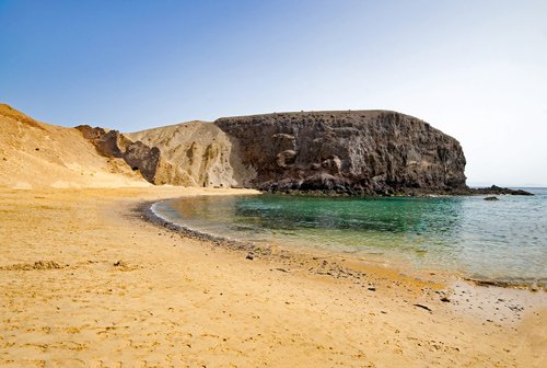 Playa del Papagayo beach, Lanzarote