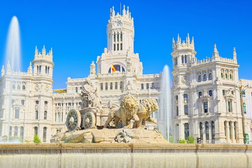 Plaza de Cibeles and fountain, Madrid, Spain