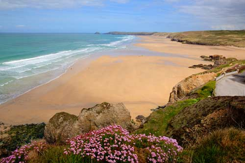 UK beach, Perranporth, Cornwall