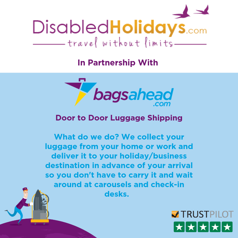 DisabledHolidays.com and Bagsahead door-to-door luggage delivery service